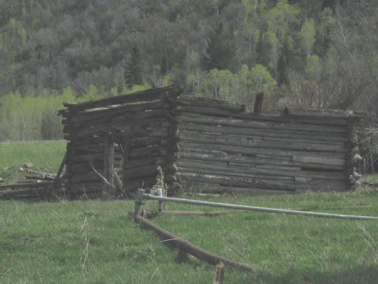 Cabin off Highway 224 and White Pine Canyon Road - 2009