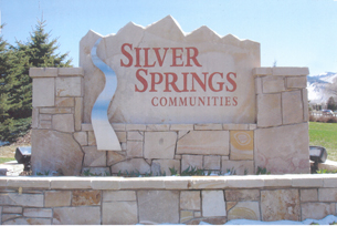 Silver springs south entry sign with silver spring