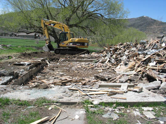 Wilford W. Snyder Home demolished May 5, 2009