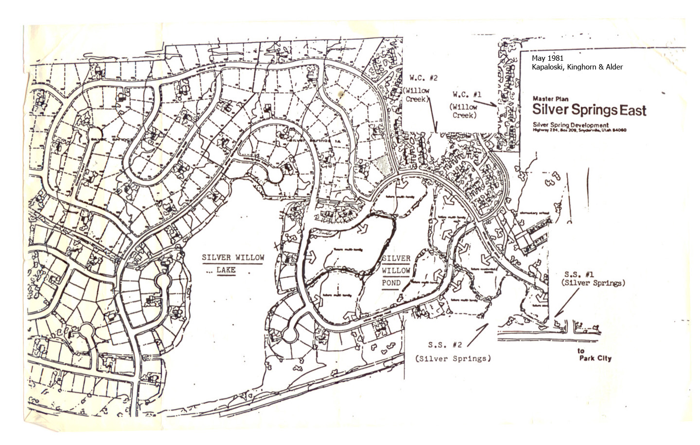 1981 May - Master Plan Silver Springs East and Waterways