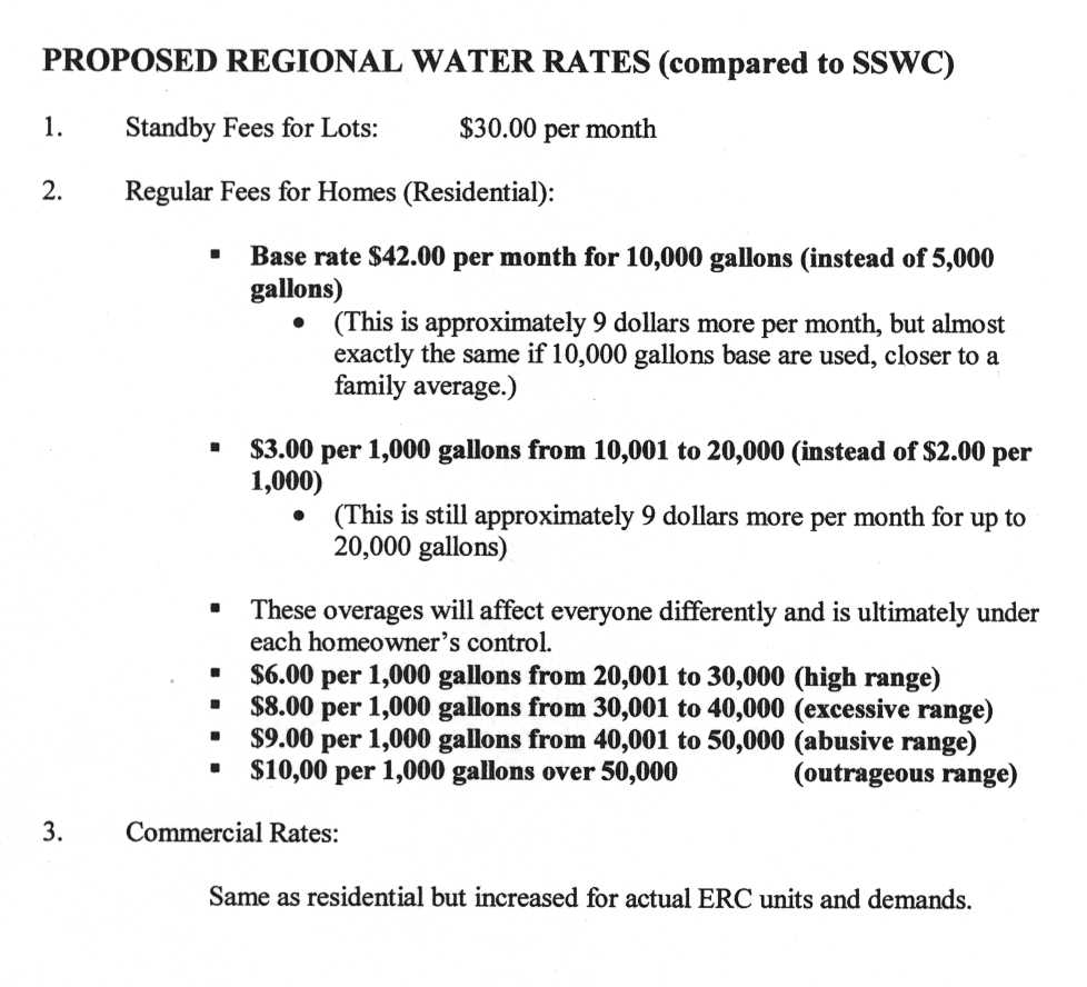 2000 SSWC and Mtn Regional Water rate comparison