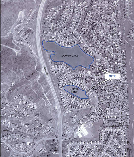 2003 Silver Springs Aerial of lakes and community
