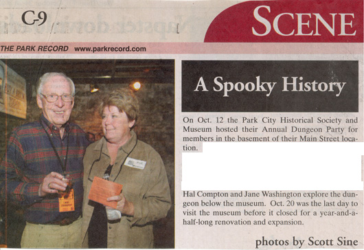 2007 October 12 Historical Society Hall Compton and Jane Washington