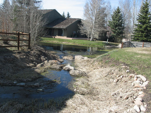 2007- Creekside Easement waterway