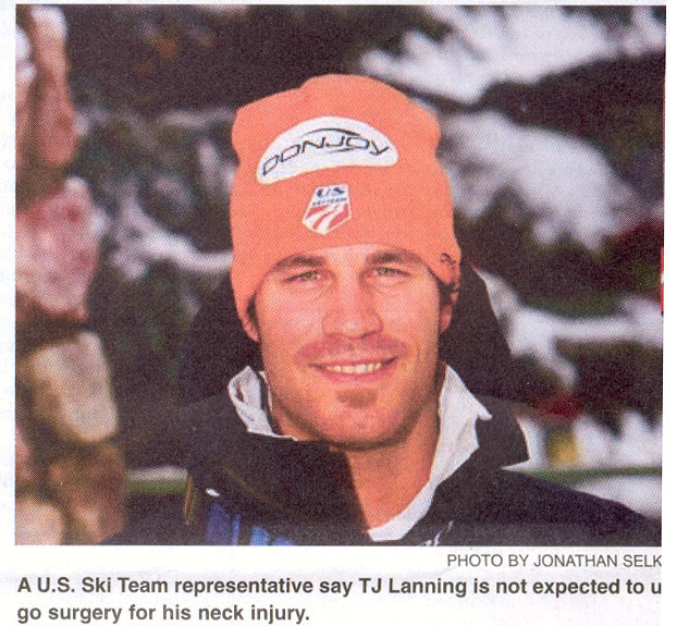 """2009- Dec 2 - TJ """"Lanning out for season"""" - Park Record article"""