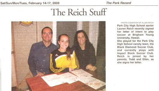 2009 - Feb Lauren Reich