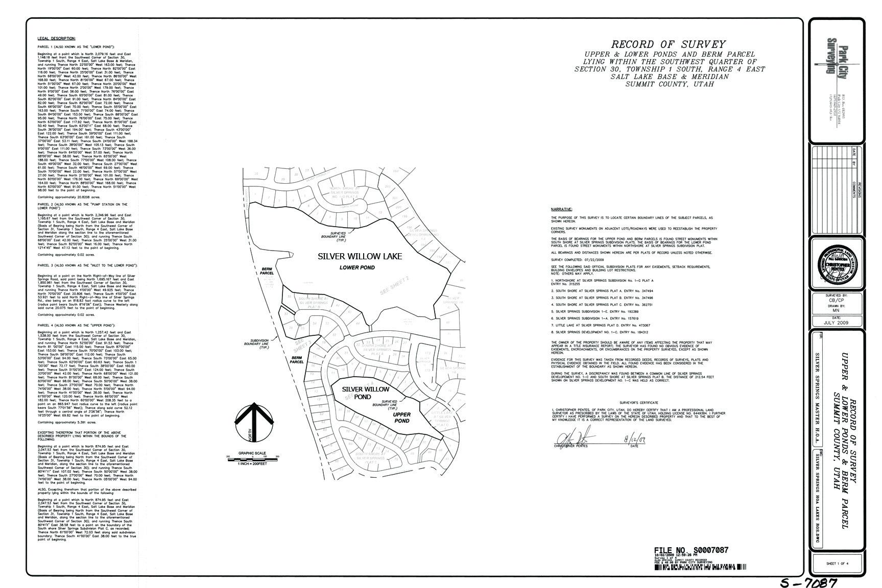 2009-10-2- Survey Map 1