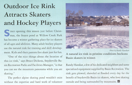 Willow Creek Ice Rink attracts skaters and hockey players