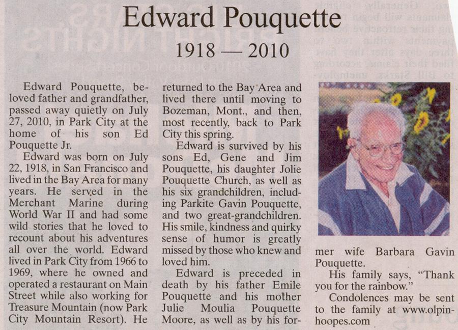 2010- July 27 - Edward Pouquette -1918-2010