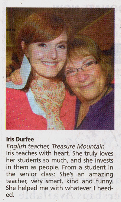 2010 - May 15 - Iris Durfee - Ptarmigan resident