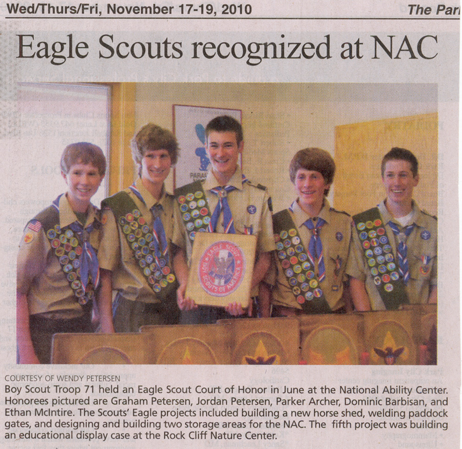 2010 - Nov 17 - Eagle Scouts recognized at NAC