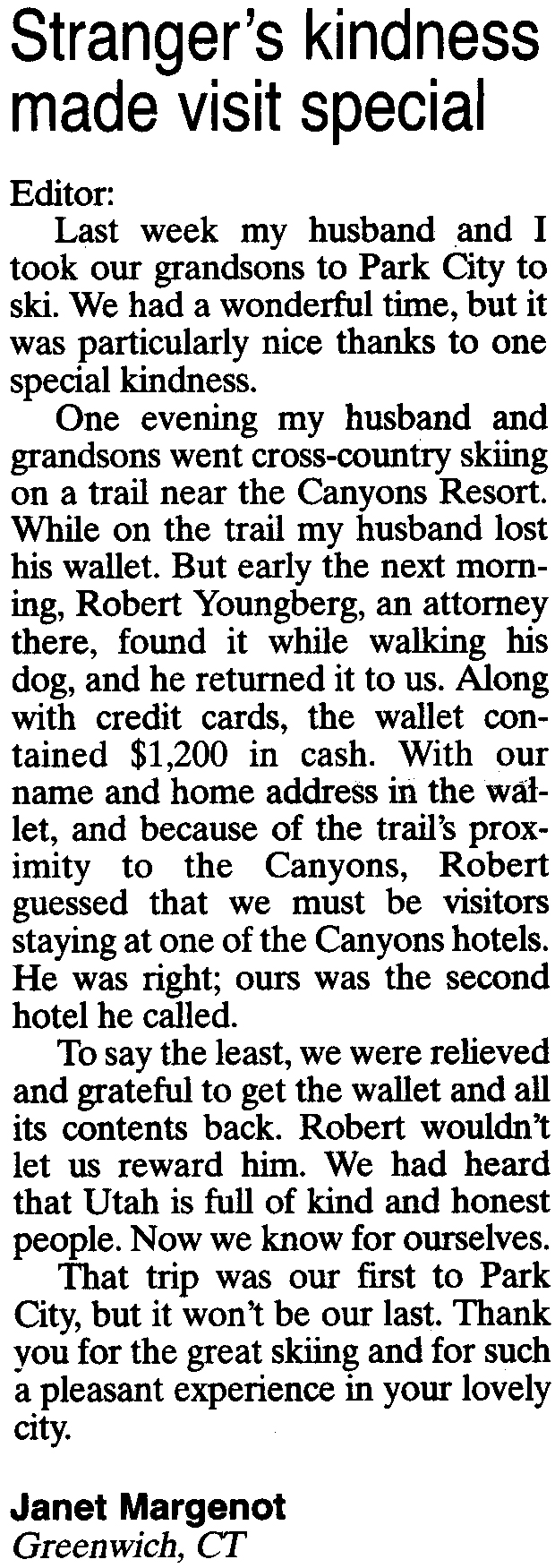 2011-Feb-16-Citizen: Rob A. Youngberg found and returned wallet
