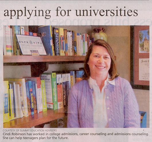 2011-Jan-12-Cindi Robinson- Get help applying for universities