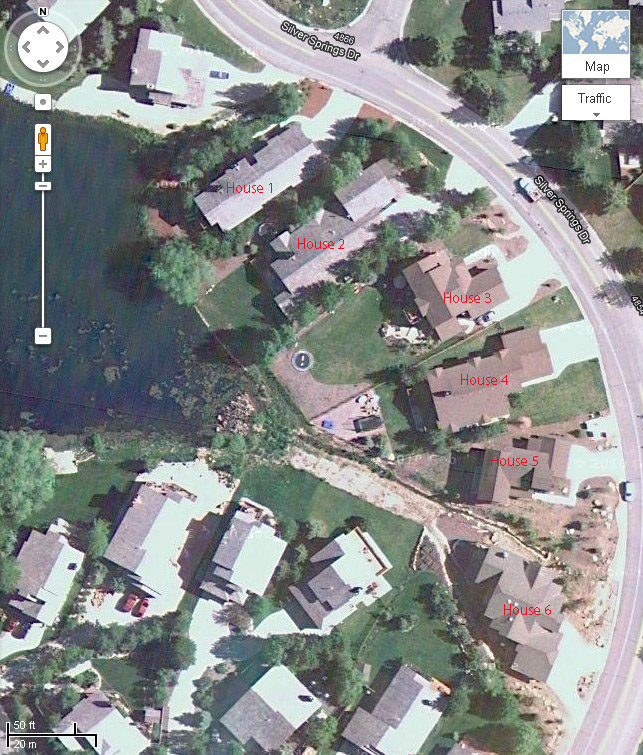 2011 Little Lake aerial of the six homes