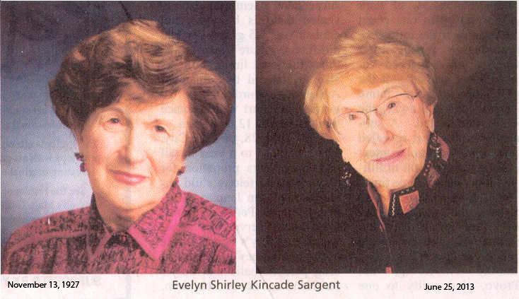 2013-6-25 Obituary for E. Shirley Sargent 1927-2013