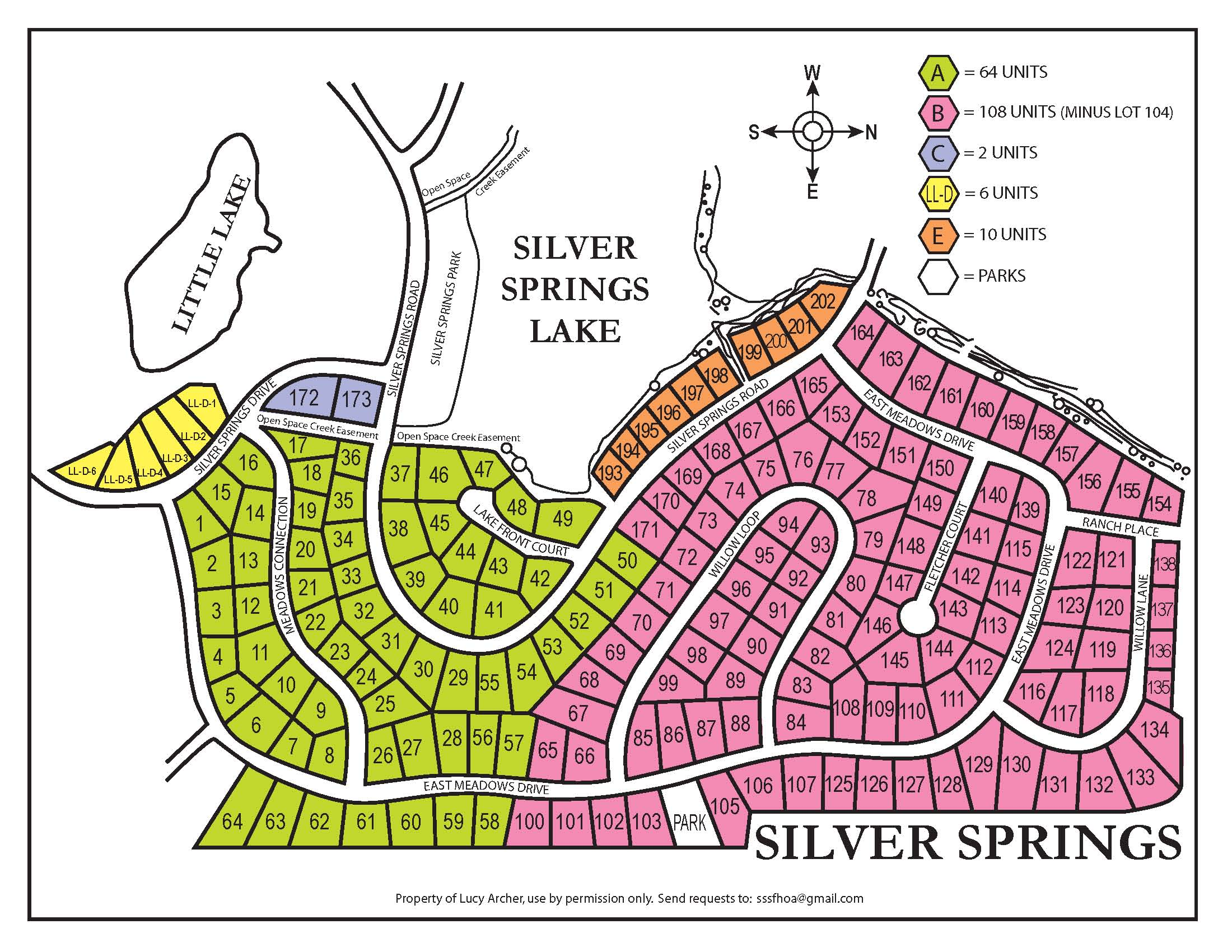 SilverSprings-Creek-Easement-Map