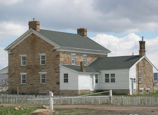 Bitner house and sheep ranch on north side of I-80