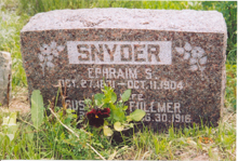 Ephraim S. Snyder and Susannah Fullmer Snyder headstone