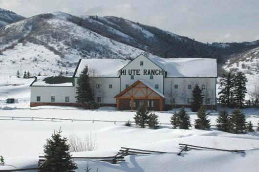 Hi-Ute Ranch on Kilby Rd. (Landmark Dr.), Summit County, Utah in winter
