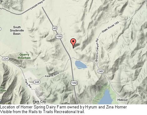 Hyrum and Zina Homer Dairy Farm map
