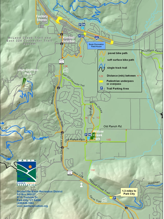 Willow Creek and McCleod Creek Trails - map