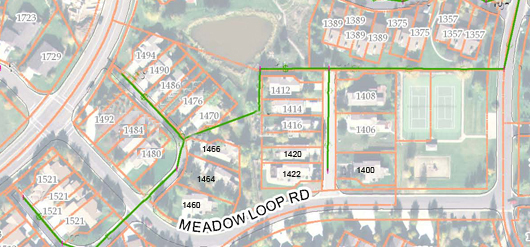 Meadow Spring Single Family - aerial