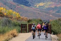 Millenium Trail bicyclists