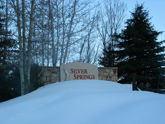 Silver Springs Communities - Northshore entry sign winter 3-08