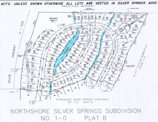 North Shore Silver Springs Subdivision 1989 No. 1-G Plat B