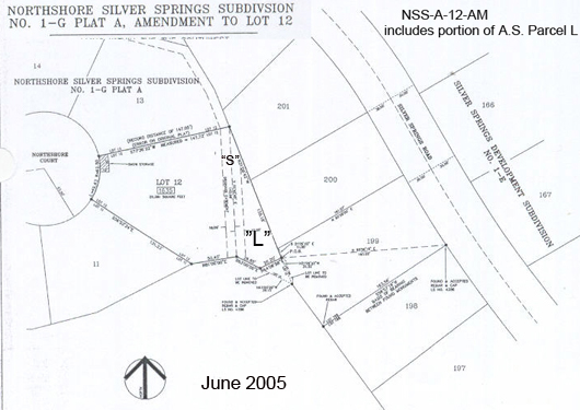 North Shore Silver Springs Subdivision 1989 No. 1-G Plat A includes Amendment to Parcel L and NSS-A-12
