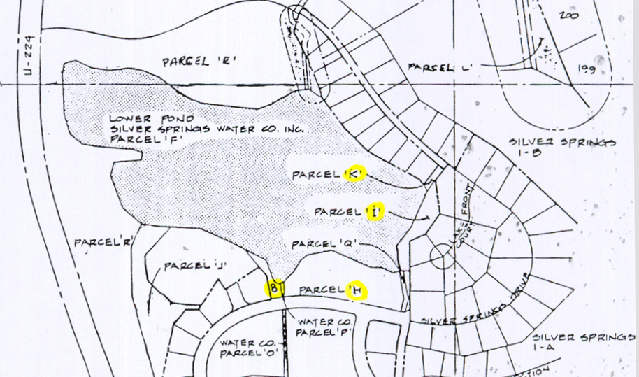 Parcels I and K - Silver Willow Lake southeast lake access areas