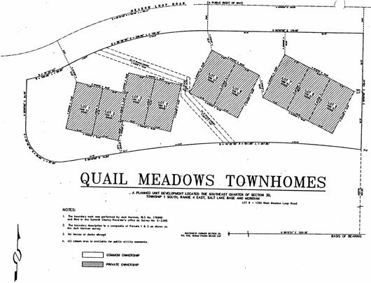 Quail Meadows Townhouses - 1996 plat map