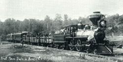 1889 Railroad engine near Wanship