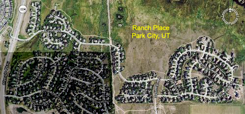 Ranch Place aerial photo