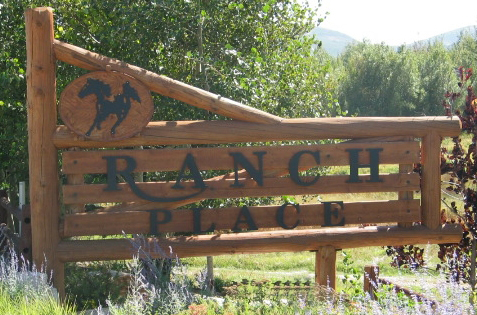 Ranch Place Entry gate sign 1995