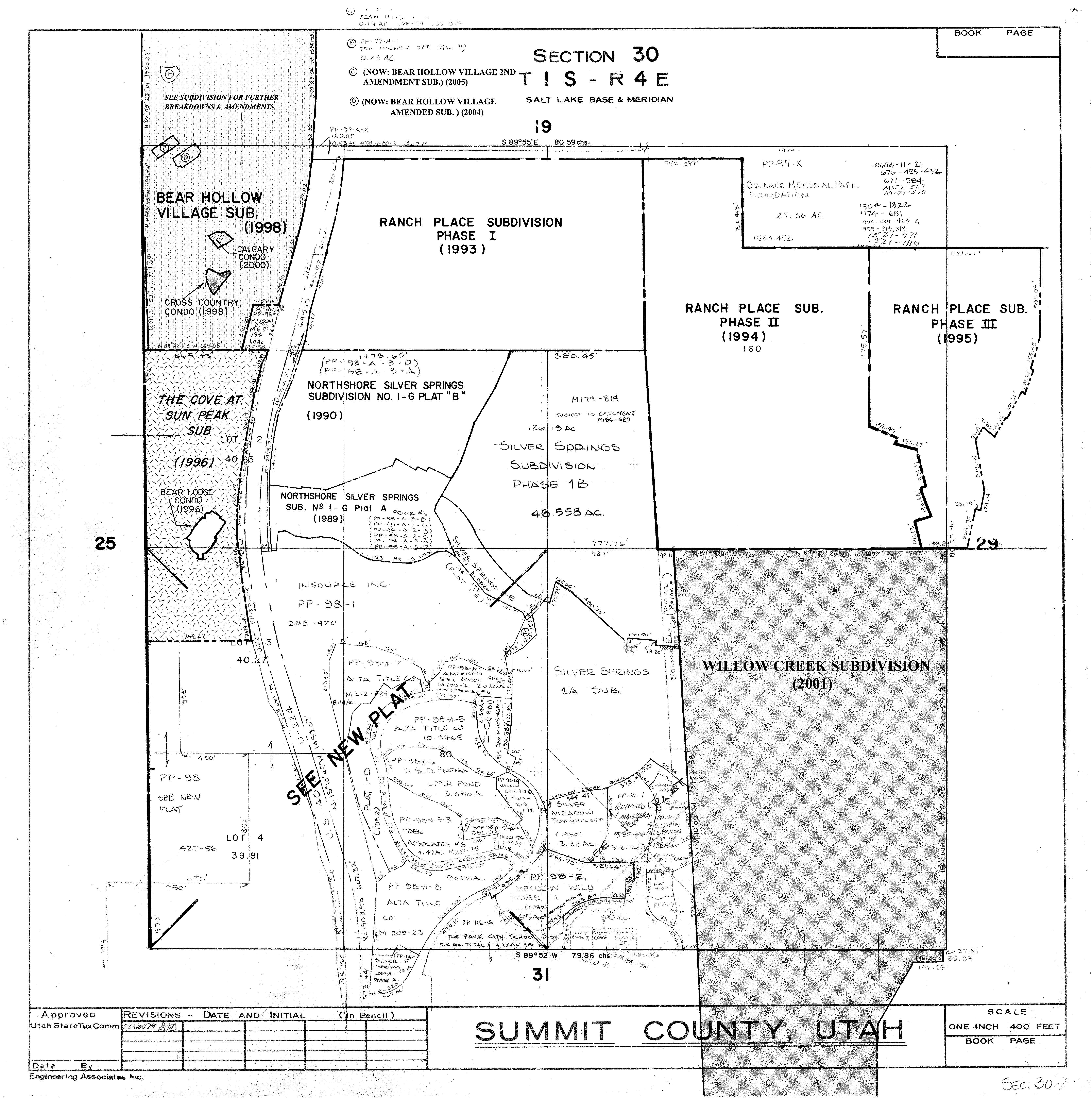 Section 30 - T 1 S, R 4 E — Central Silver Springs Community