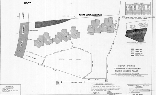 Silver Meadows south - 1981 plat map