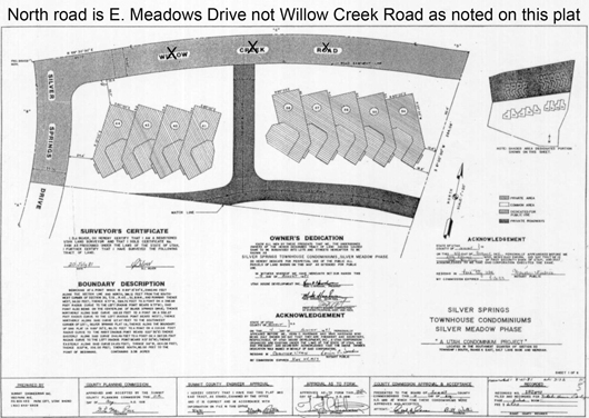 Silver Meadows North - 1981 plat map