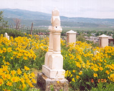 Snyderville Cemetery located in Sun Peak looking south