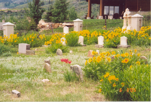 Snyderville Cemetery located in Sun Peak looking southwest