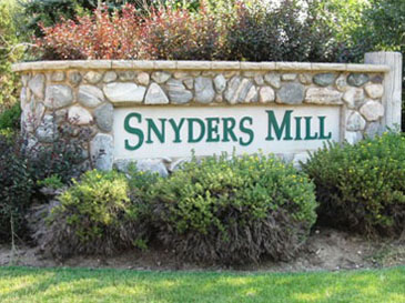 Snyder's Mill - sign