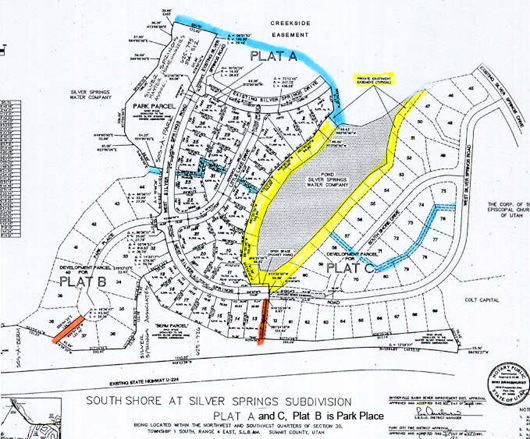 South Shore Silver Springs Subdivision 1991 No. Plats A and C, Plat B is Park Place