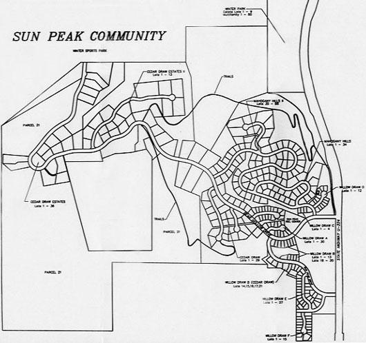 Sun Peak map