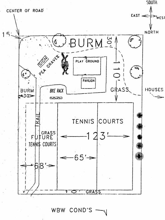 Tennis Courts - blueprint - 1990