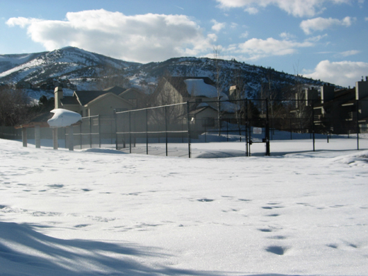 Silver Springs MA Tennis Courts - Winter 2008