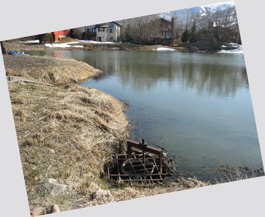 Upper Pond- gate on east side