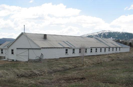 Wallin Dairy Farm - milking barn at 5376 Hwy 224 Summit County, Utah