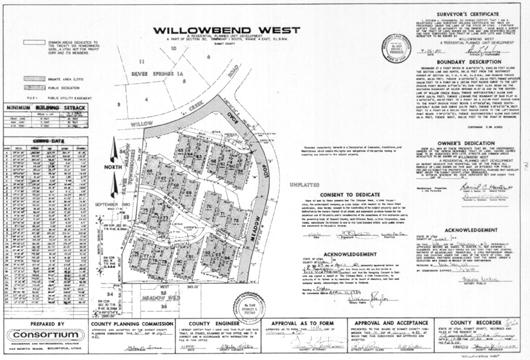 Willowben West 1984 plat map