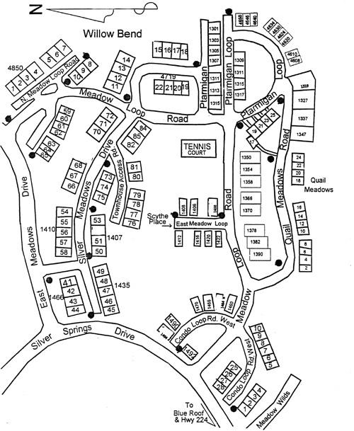 Willow Bend Village plat map